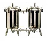 Aço inoxidável do tipo duplo filtro de mangas