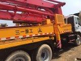 Sany usato 37m Truck Mounted Conrete Pump Isuzu Chassis