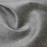 La parte superior de PVC en relieve la calidad de cuero sintético para sofá tapizado de muebles