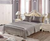 Super suave satén de lujo hoja define la ropa de cama de seda