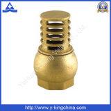 Pie de latón se utiliza una válvula en el agua (YD-3004)