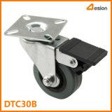 T-Platten-industrielle Rad-Fußrolle mit Bremse