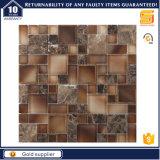 Baumaterial-natürlicher Steinmarmor-Mischglasmosaik-Fußboden-Fliese