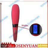PRO automático de la temperatura LCD Control de la enderezadora del pelo del cepillo