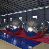 De grote Dubbele Ronde Zilverachtige Bal van de Spiegel van de Modeshow van pvc Opblaasbare