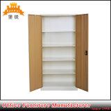 Armário de aço Jas-008 do metal do armazenamento da porta dobro do gabinete de H1850*W900*D400mm