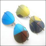2017 occhiali da sole inossidabili del nuovo metallo di modo con l'obiettivo polarizzato dello specchio
