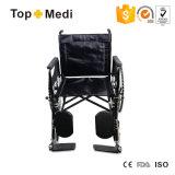 Topmedi medizinische Ausrüstung Economical Steel Wheelchair mit Elevating Footrest