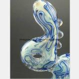 Blaues Filter-Wasser-Rohr für den Tabak, der Glaswasser-Rohr aufbereitet