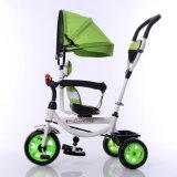 Triciclo girante del bambino del triciclo di bambini della rotella della sede tre