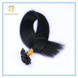 Kundenspezifische Strahlen-Schwarz-Farben-Doppeltes gezeichnete Band-Haar-Extensions-Haare der Farben-Qualitäts-#1 mit Fabrik-Preis Ex-051