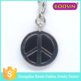 Tag rotondo Charm per International Peace Symbol/Peace Charm #16458