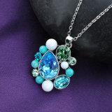 Высокое качество стильных женщин Бижутерия Позолоченный Austrial Crystal очарование цепочка