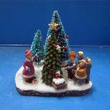 راتينج حرفات عيد ميلاد المسيح هبات 4 '' [لد] [إكس'مس] شجرة مشهد إستعمال 2 [بكس] [أا] بطاريات