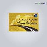 Visita de RFID de PVC de plástico transparente Cartão de visitas com Design Personalizado