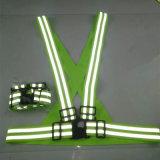Colete reflector elástica de alta visibilidade