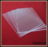 Fabricante de pulido rectangular transparente de la hoja de la placa de cristal de cuarzo de la silicona