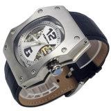 Form-echtes LederMens imprägniern automatische Uhr
