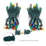 Multi Color 16,3M G10 facetas LED de 50 luces de Navidad