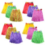 Оформление Луау гибискуса зеленой строкой разноцветных шелковых фо цветы Хуле трава юбка для купальный костюм, событий, дни рождения, торжества одежда