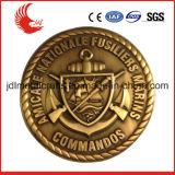 Les militaires de coulage sous pression conçoivent le modèle libre d'offre d'insigne de Pin de shérif de qualité