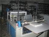Automatischer flacher Plastikbeutel, der Maschine herstellt