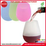 BPA elegantes livram o copo dos vidros de vinho do silicone da forma