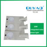 Indicatore luminoso di via solare di protezione LED di temperatura insufficiente 20watt