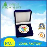 Moneda del recuerdo de la alta calidad con el esmalte y el rectángulo de imitación