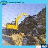 Excavadora de rueda hidráulica con buena calidad y sistema hidráulico importado
