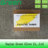 Examen de mejor venta de guantes de vinilo sin polvo Guantes Stretch