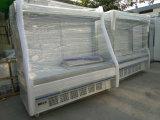Grado de 2~8 Supermercado vitrina refrigerador/frigorífico/congelador/Chiller para el almacenamiento de frutas y verduras