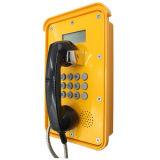 Système de télécommunication Knsp-16 Téléphone à sec étanche téléphonique