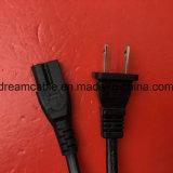 cable de la corriente ALTERNA del diente del 1.2m Non-Polaried 2 con IEC C7