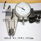 Ck-243 Grado imanes de NdFeB Φ 1.7*Φ 1.1*12mm
