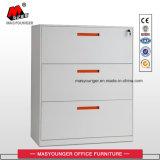 Kundenspezifischer Größen-3 Fach-Metallc$voll-aufhebung seitlicher zugelassener oder letzter Stahldatei-Schrank