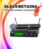 Микрофон оборудований нот выставки Slx24/58 в реальном маштабе времени бесшнуровой двойной Handheld беспроволочный