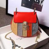 Bolsas de designer Bolsas de ombro femininas Contraste Cores de couro de vaca Emg4697