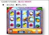 Blauer Mond-spielendes Kasino-videoSäulengang-Schlitz-Spiel-Maschine