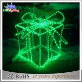 Lumière extérieure de vacances de forme de boîtes-cadeau de Noël de décoration de DEL