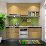 Gloss armário de cozinha de estilo Linear para cozinhas Inicial