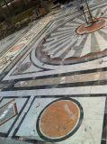 대리석 돌 도와 물 분출 큰 메달 패턴
