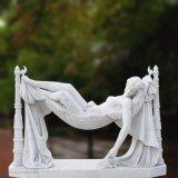 자는 여자 T-5749의 대리석 상 조각품