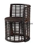 Meubles en osier de jardin de Pe-Rotin de patio extérieur de bonne qualité dinant le jeu par Chair et Tableau latéral de deux couches (YT591) employant pour le jeu de balcon