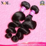 7A等級の加工されていないマレーシアのRemyの人間の毛髪は波状マレーシアのバージンの毛を束ねる