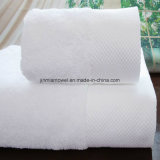 Customized Knitting machine Bath Towels White Color Software Hotel Embroidery Towels