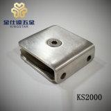 KS2000 0 grados de ángulo del arco de la puerta de cristal de cuarto de baño de ducha cuadrados pinza abrazadera de montaje