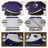 Мужской костюм Детский Echl женщин Манчестер монархов сшитое настроили какие-либо имя и номер Джерси дешевые фиолетового цвета синий белый хоккей футболках Nikeid Goalit разрез