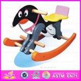 Горячие! ! 2015 En71 Деревянные Rocking Horse краской, Детский деревянная игрушка качающегося лошадь, деревянная игрушка для вашего малыша Wjy качающегося лошадь-8203