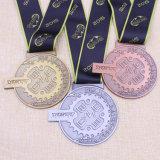Regalos personalizados Maratón de la medalla de la ejecución de la medalla de Deporte de metal con cinta